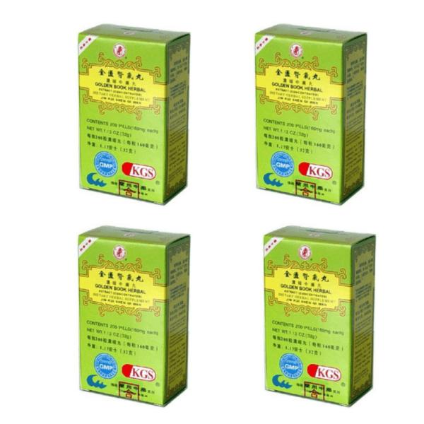 Jin Kui Shen Qi Wan - Golden Book Herbal - 4pk (200 teapills each) | Best Chinese Medicines
