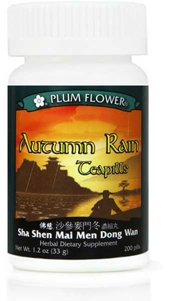 PLUM FLOWER - Autumn Rain Teapills - Sha Shen Mai Men Dong Wan | Mayway | Best Chinese Medicines