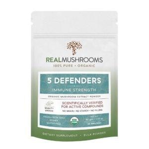 5 Defenders Mushroom Powder by Real Mushrooms