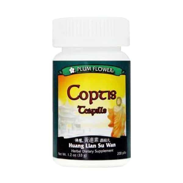 Plum Flower - Coptis Teapills | Huang Lian Su Wan | Mayway | Best Chinese Medicines