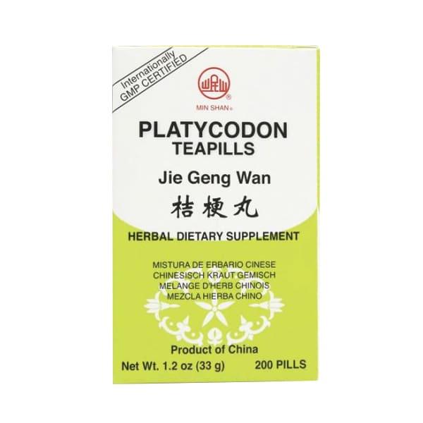 Min Shan - Platycodon Teapills   Jie Geng Wan   Mayway   Best Chinese Medicines