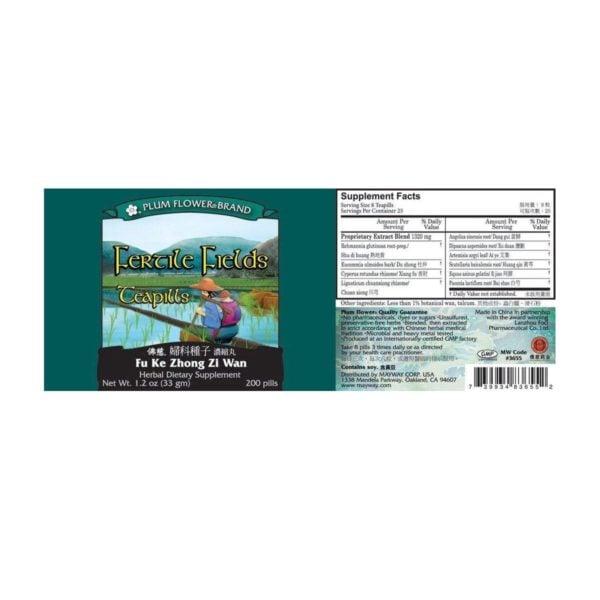 Plum Flower - Fertile Fields Teapills   Fu KE Zhong Zi Wan   Mayway   Best Chinese Medicines