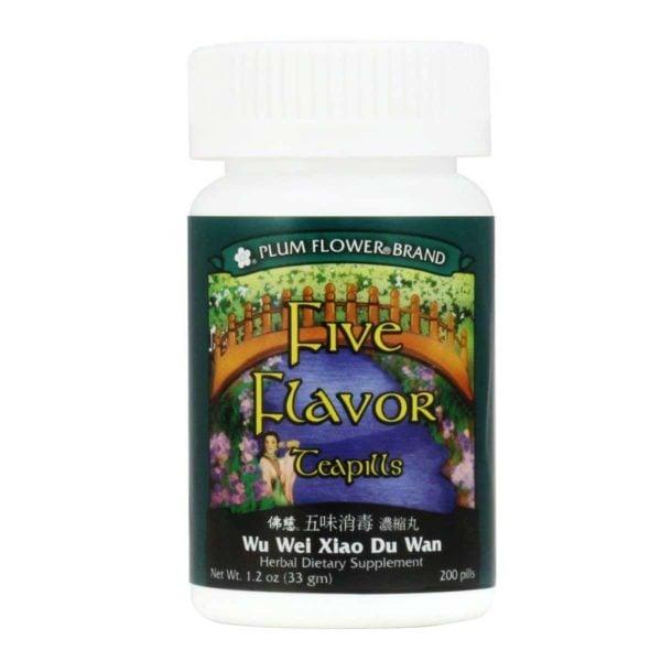plum flower five flavor teapills wu wei xiao du wan 1