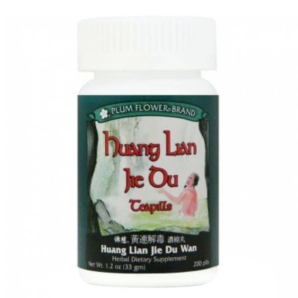 plum flower huang lian jie du teapills 1