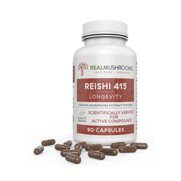 reishi mushroom capsules real mushrooms 1