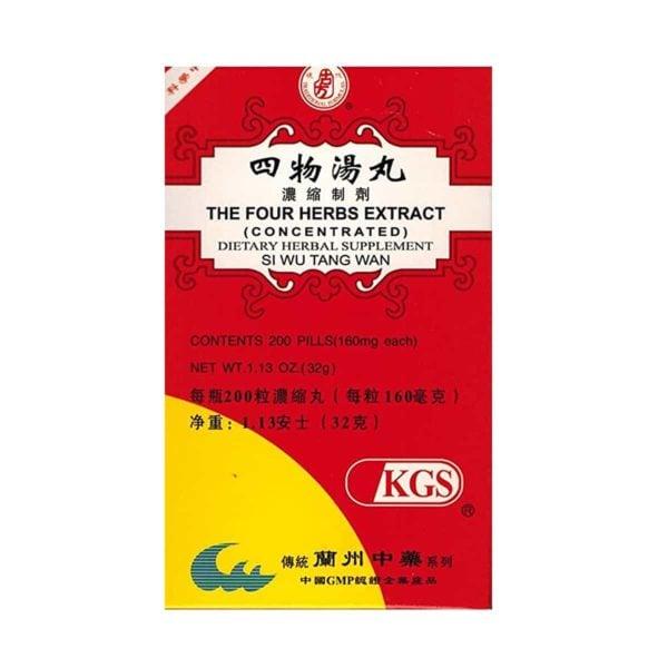 si wu tang wan four herbs