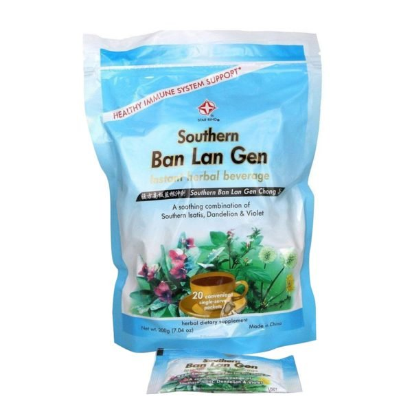 star ring ban lan gen chong ji isastis root herbal beverage