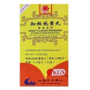 Zhi Bai Di Huang Wan – Eight Flavor Rehmanni – Kingsway (KGS) Brand